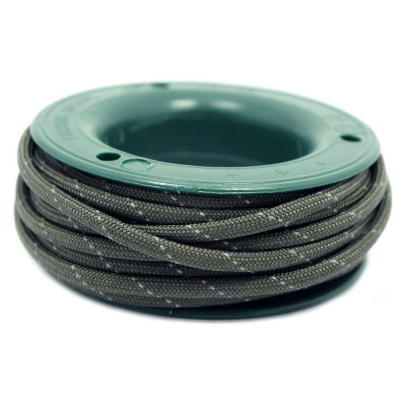 550 PARACORD MINI SPOOL - OD GREEN REFLECTIVE - Hock Gift Shop | Army Online Store in Singapore