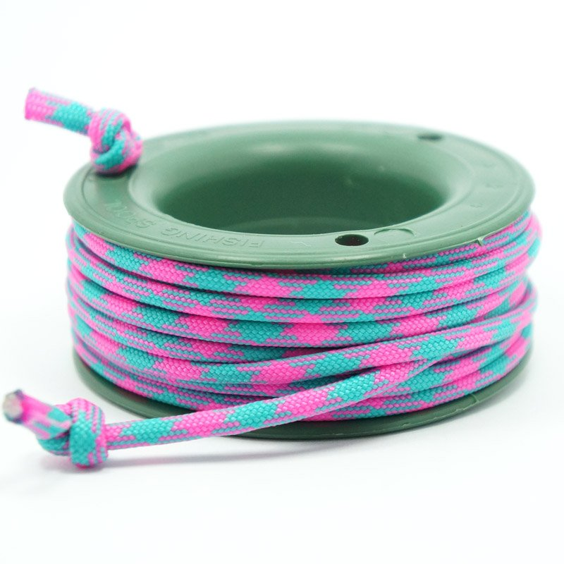 550 PARACORD MINI SPOOL - PINKY CYAN - Hock Gift Shop | Army Online Store in Singapore