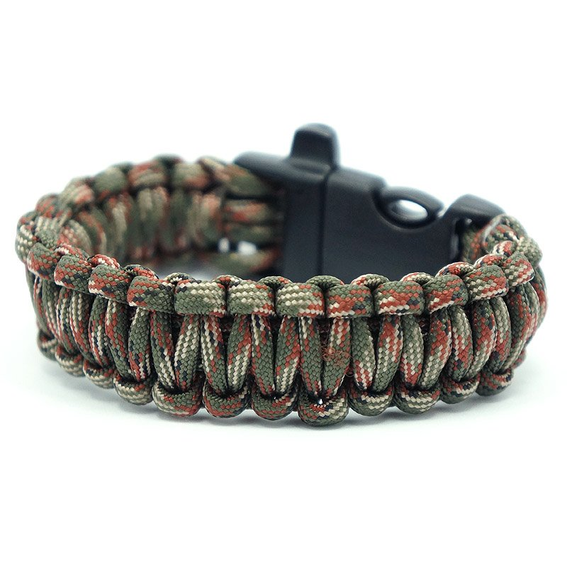 Survival Bracelets for Men Camo Adjustable Army Green Paracord Rope Yarn Watches Infinity