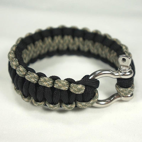 550 PARACORD SURVIVAL BRACELET - BLACK ACU - Hock Gift Shop | Army Online Store in Singapore