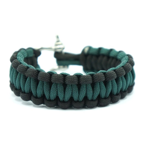 550 PARACORD SURVIVAL BRACELET - BLACK HUNTER GREEN - Hock Gift Shop | Army Online Store in Singapore