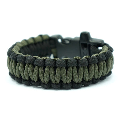 550 PARACORD SURVIVAL BRACELET - BLACK OD - Hock Gift Shop | Army Online Store in Singapore