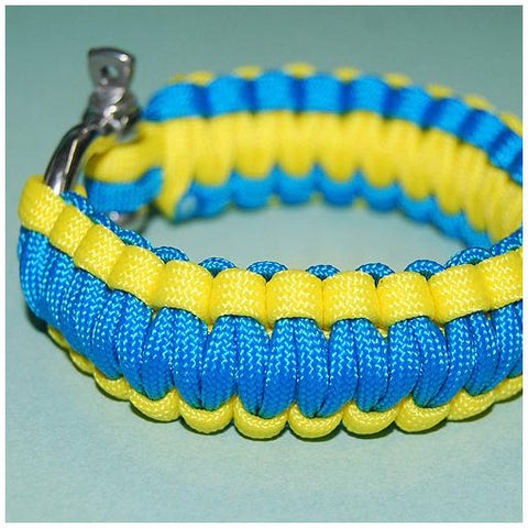550 PARACORD SURVIVAL BRACELET - BLUE & YELLOW MACAW - Hock Gift Shop | Army Online Store in Singapore