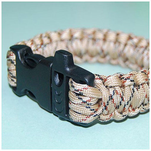 550 PARACORD SURVIVAL BRACELET - DESERT CAMO - Hock Gift Shop | Army Online Store in Singapore