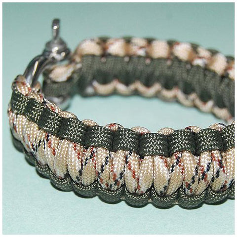 550 PARACORD SURVIVAL BRACELET - DESERT GRASS - Hock Gift Shop | Army Online Store in Singapore