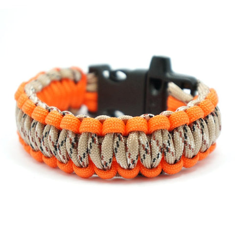 550 PARACORD SURVIVAL BRACELET - DESERT ORANGE - Hock Gift Shop | Army Online Store in Singapore