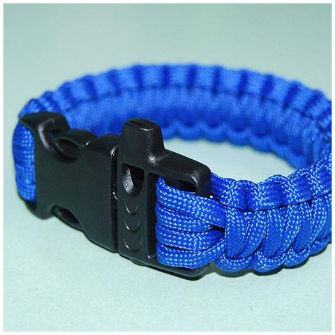550 PARACORD SURVIVAL BRACELET - ELECTRIC BLUE - Hock Gift Shop | Army Online Store in Singapore