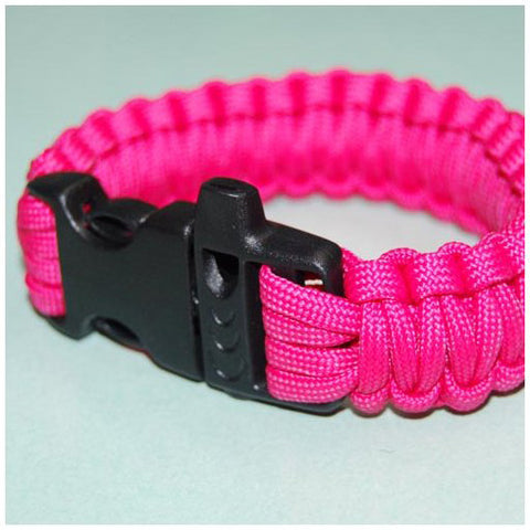 550 PARACORD SURVIVAL BRACELET - HOT PINK - Hock Gift Shop | Army Online Store in Singapore