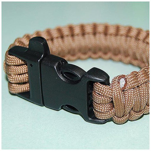 550 PARACORD SURVIVAL BRACELET - KHAKI - Hock Gift Shop | Army Online Store in Singapore