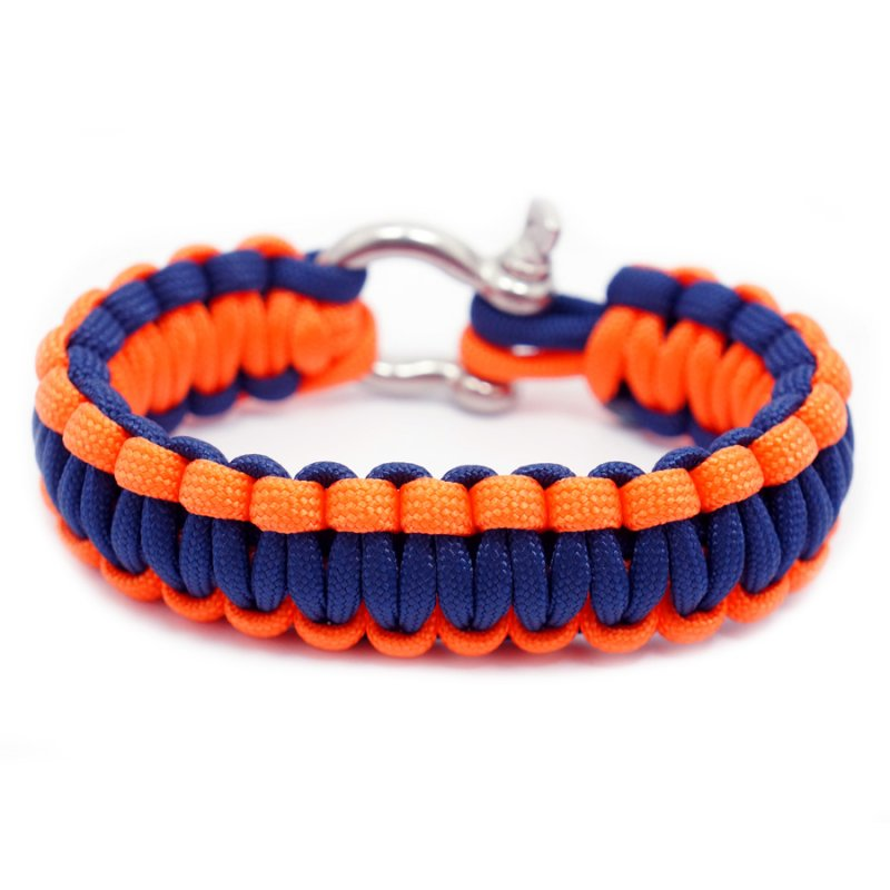550 PARACORD SURVIVAL BRACELET - NAVY SALMON - Hock Gift Shop | Army Online Store in Singapore