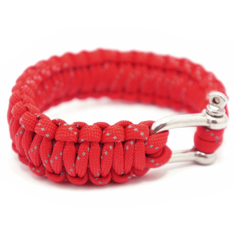 550 PARACORD SURVIVAL BRACELET - RED REFLECTIVE - Hock Gift Shop | Army Online Store in Singapore