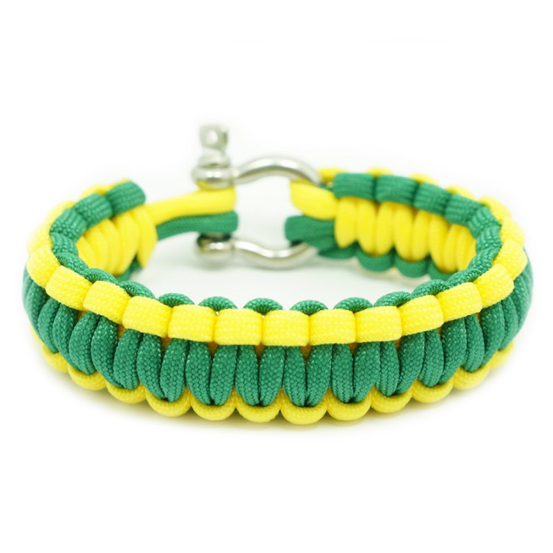 550 PARACORD SURVIVAL BRACELET - YELLOW KELLY - Hock Gift Shop | Army Online Store in Singapore