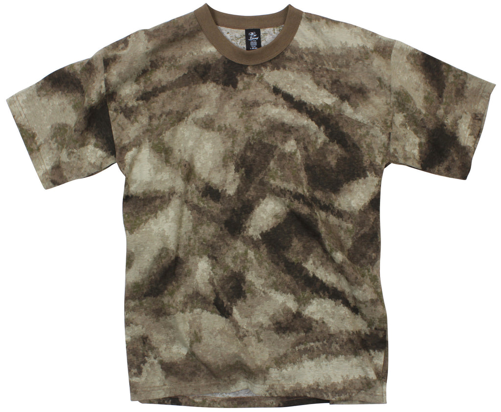ROTHCO A-TACS T-SHIRT - AU BROWN - Hock Gift Shop | Army Online Store in Singapore