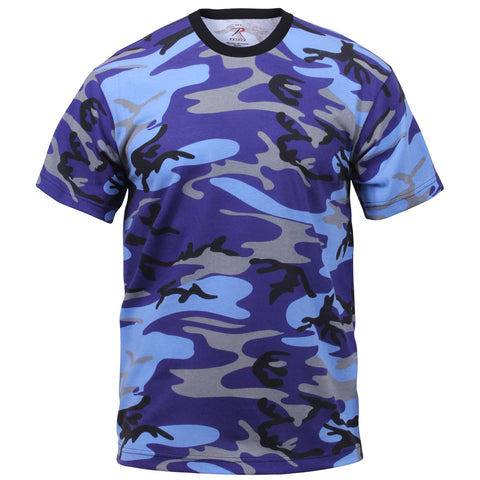 ROTHCO CAMO T-SHIRT - ELECTRIC BLUE CAMO - Hock Gift Shop | Army Online Store in Singapore