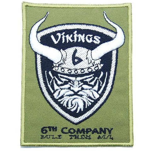 6TH COMPANY VIKINGS PATCH - OLIVE GREEN - Hock Gift Shop | Army Online Store in Singapore