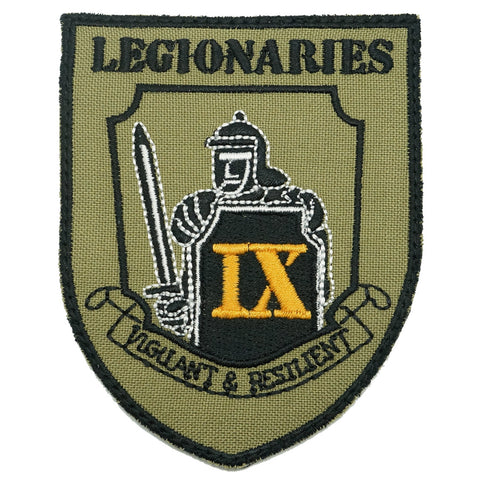 9 SIR LEGIONARIES LOGO PATCH - OLIVE GREEN