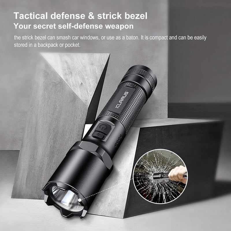 KLARUS A1 COMPACT TACTICAL LED TORCH (18650 2600mAh BATTERY INCLUDED) - 1100 LUMENS