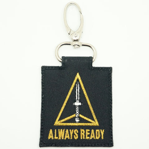 ADF UNIT LOGO KEYCHAIN - BLACK
