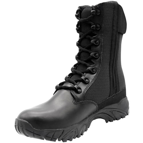 ALTAI™ 8″ WATERPROOF SIDE ZIP TACTICAL BOOTS - BLACK