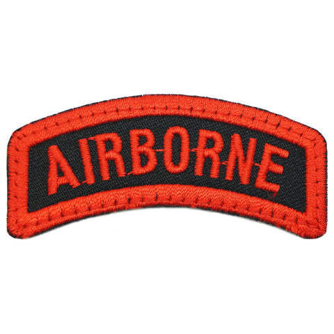 AIRBORNE TAB - BLACK RED