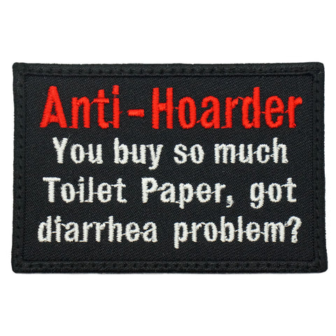 ANTI-HOARDER, DIARRHEA PROBLEM PATCH - BLACK