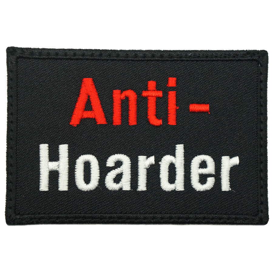ANTI-HOARDER PATCH - BLACK