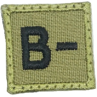 "Copy of HGS BLOOD GROUP 1"" PATCH, B- (OLIVE GREEN)"