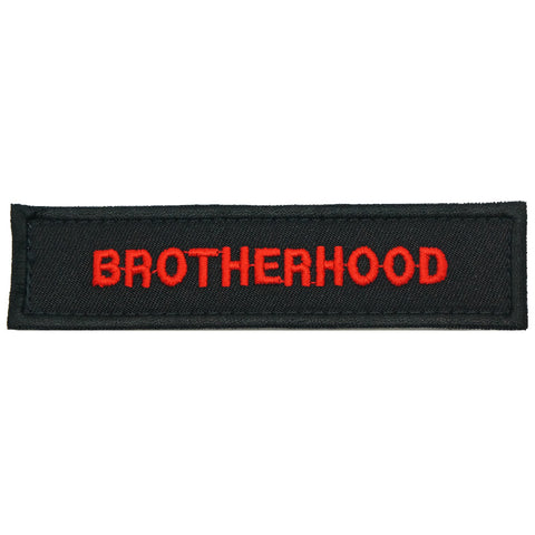BROTHERHOOD PATCH - BLACK RED