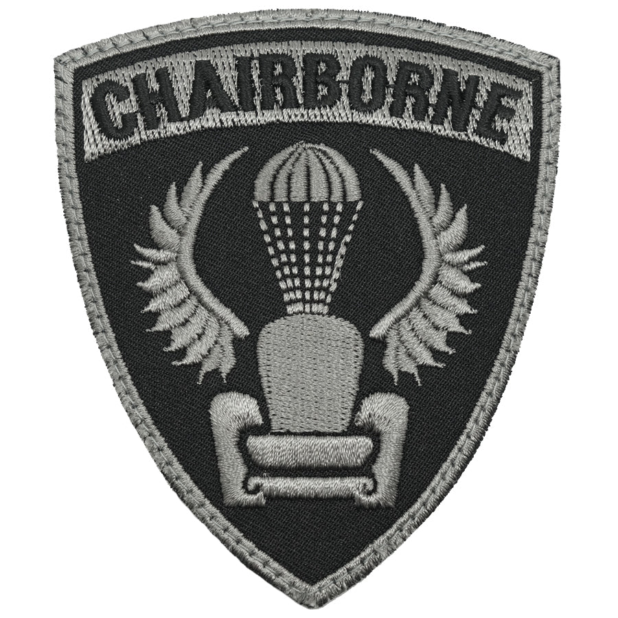 CHAIRBORNE WING PATCH - BLACK FOLIAGE