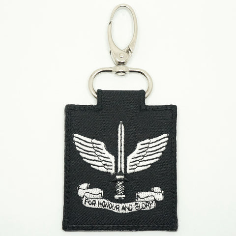 COMMANDO UNIT LOGO KEYCHAIN - BLACK