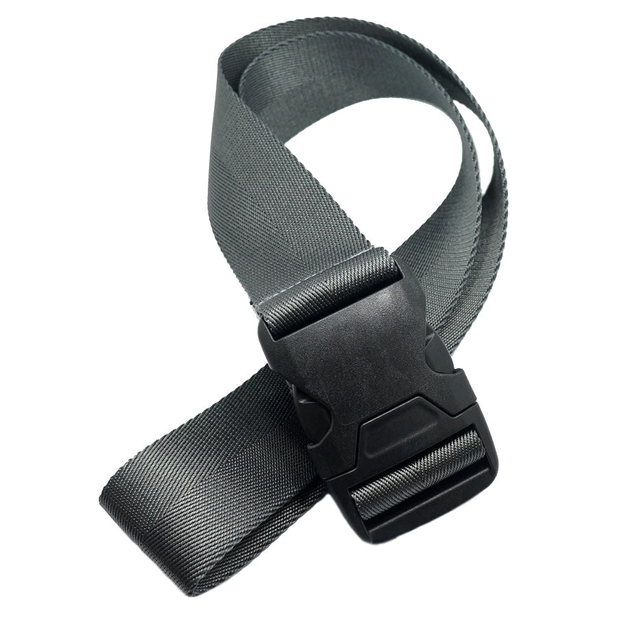 "1.5"" COVERT BUCKLE BELT - STEEL GREY"