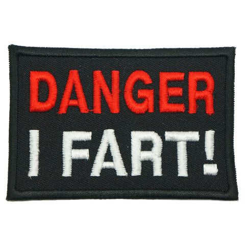 DANGER I FART PATCH - BLACK