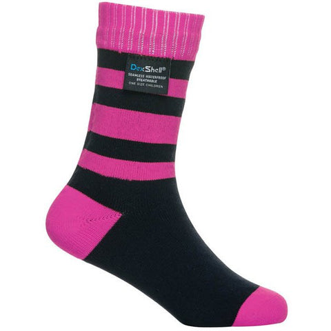 DEXSHELL CHILDREN SOCKS - STRIPE PINK