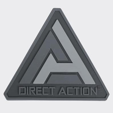 DIRECT ACTION® LOGO PATCH - PVC (BLACK)
