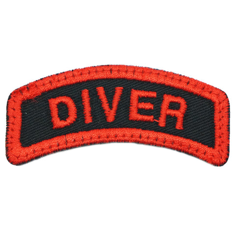 DIVER TAB - BLACK RED