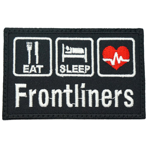 EAT . SLEEP . FRONTLINERS PATCH - BLACK