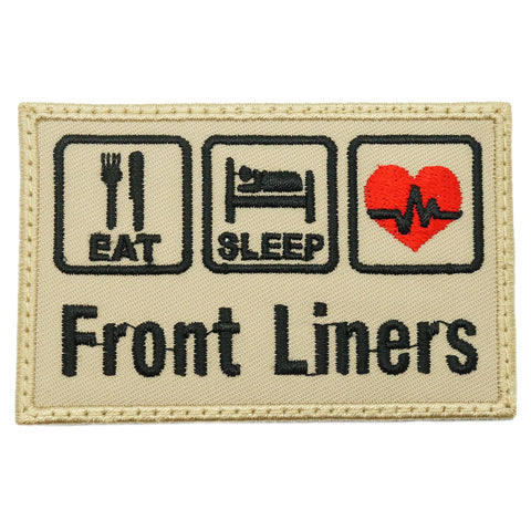 EAT . SLEEP . FRONT LINERS PATCH - KHAKI