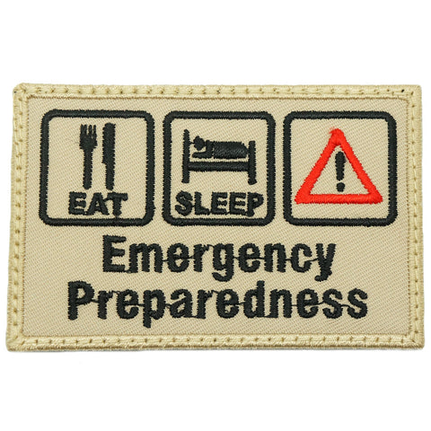 EMERGENCY PREPAREDNESS PATCH - KHAKI
