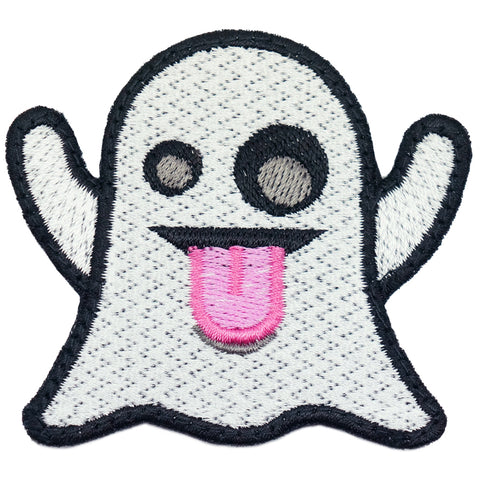 GHOST EMOJI PATCH - WHITE