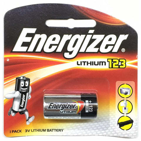 ENERGIZER LITHIUM CR123 BATTERIES (1 PIECE PACK)
