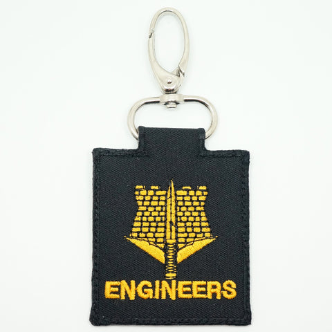 ENGINEER UNIT LOGO KEYCHAIN - BLACK