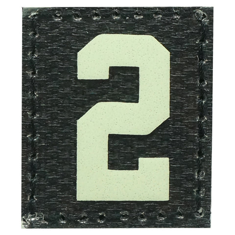 HGS NUMBER 2 PATCH - GLOW IN THE DARK
