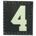 HGS NUMBER 4 PATCH - GLOW IN THE DARK