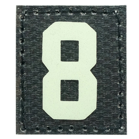 HGS NUMBER 8 PATCH - GLOW IN THE DARK