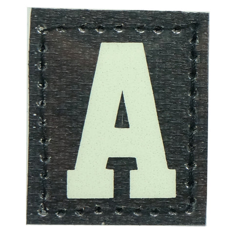 HGS LETTER A PATCH - GLOW IN THE DARK