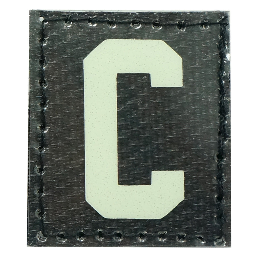 HGS LETTER C PATCH - GLOW IN THE DARK