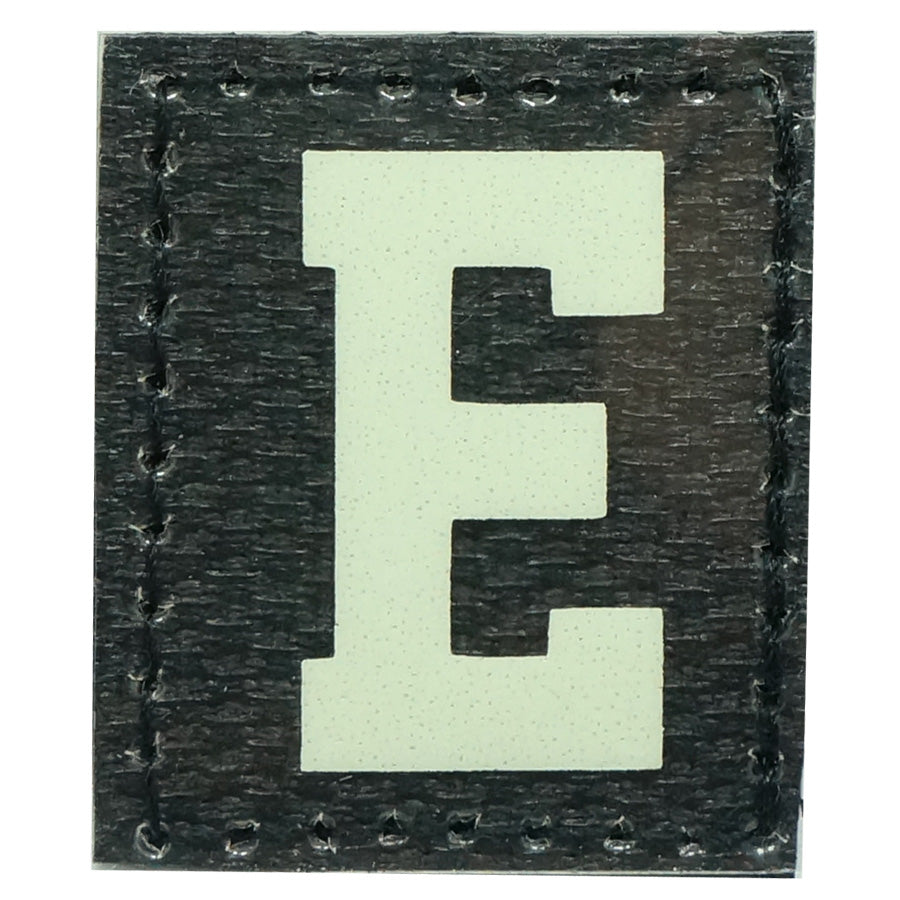 HGS LETTER E PATCH - GLOW IN THE DARK