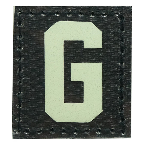 HGS LETTER G PATCH - GLOW IN THE DARK
