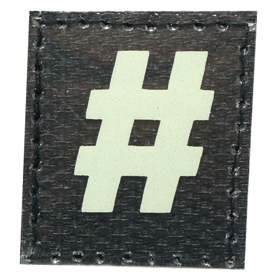 HGS NUMBER # PATCH - GLOW IN THE DARK