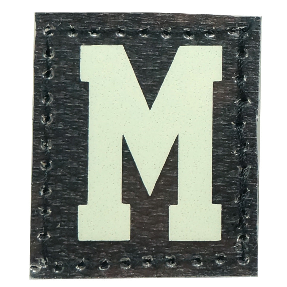 HGS LETTER M PATCH - GLOW IN THE DARK